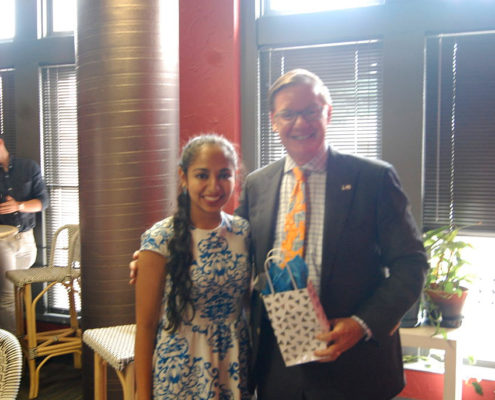 Anjali Chadha with Mr. Sam Corbett of FutureUp